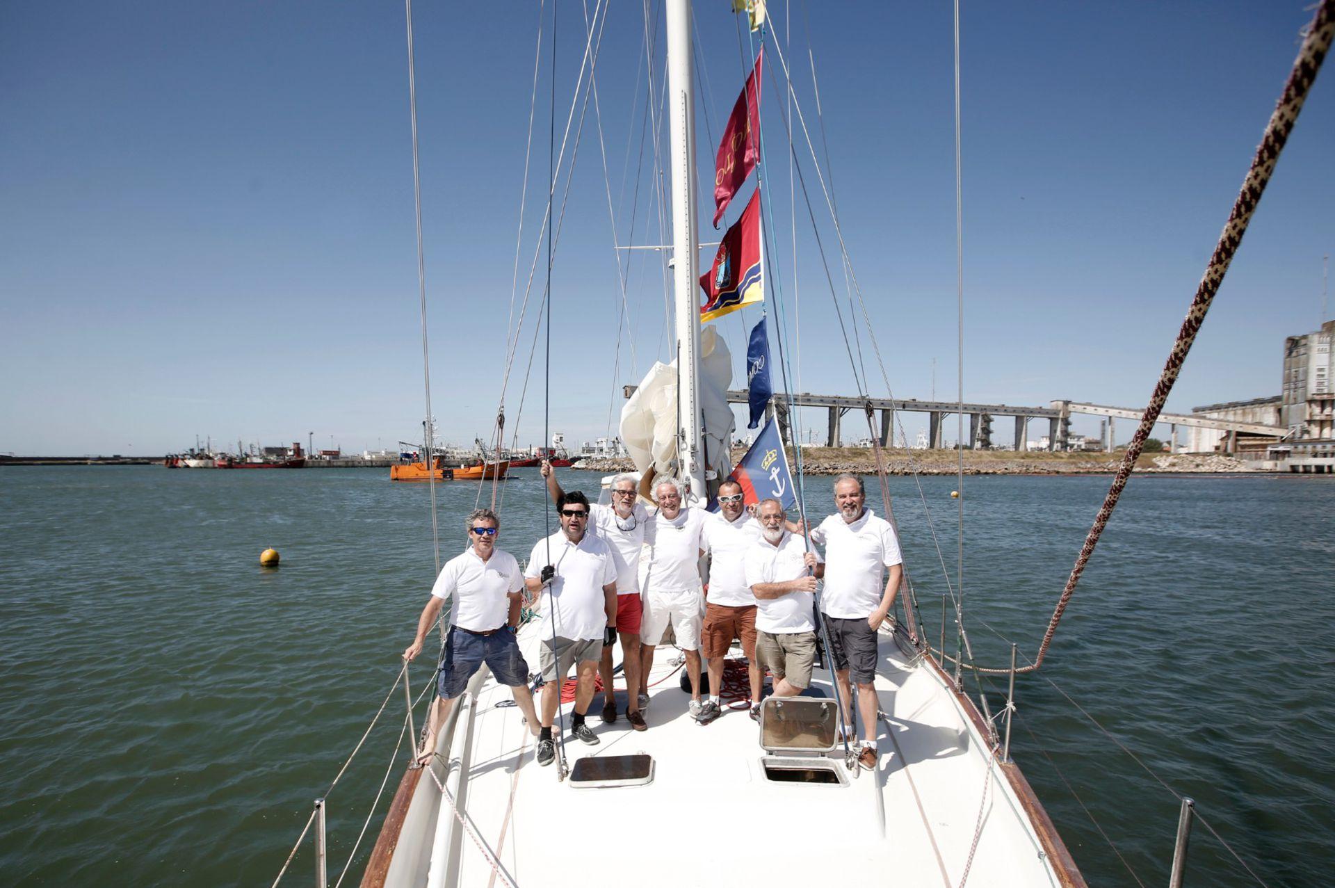 Los siete españoles estuvieron hace poco en el puerto de Mar del Plata