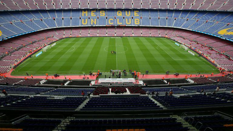 El Camp Nou sin público