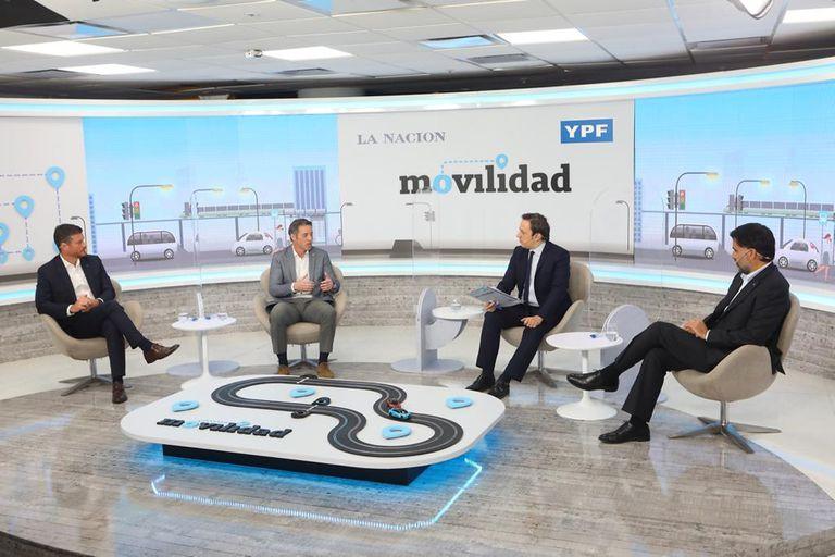 Andrés Leonard (Scania Argentina), Gonzalo Ibarzábal (Nissan Argentina), José Del Rio (LA NACION) y Manuel Mantilla (Mercedes-Benz Argentina)