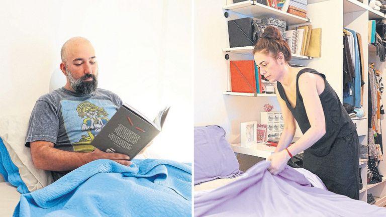 Santiago Martí y Glenda Fisbein, padres de Pedro, de 2 años, prefieren dormir en cuartos separados