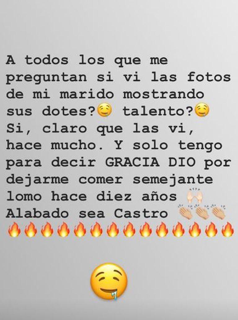 El mensaje de Sabrina Rojas cuando se filtraron las fotografías de Luciano Castro desnudo