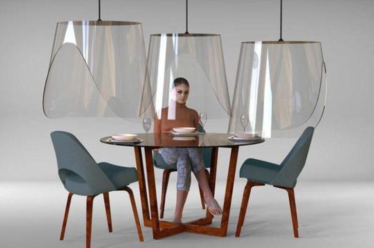Conos del silencio: la solución de un diseñador para que abran los restaurantes