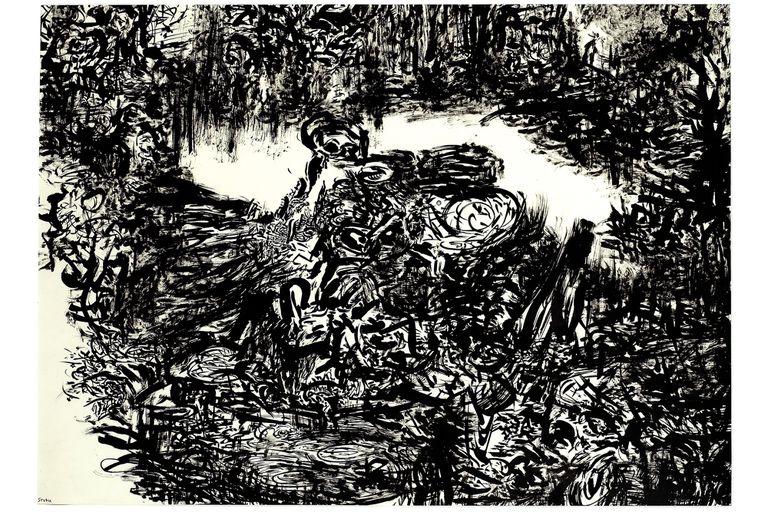 Un enmarañado paisaje en blanco y negro de Eduardo Stupía