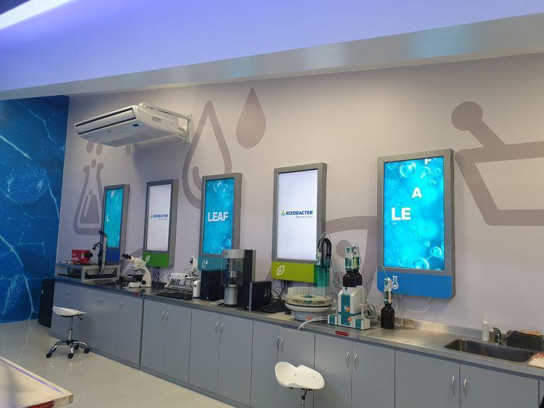 Instalaciones del laboratorio de la empresa en Pergamino