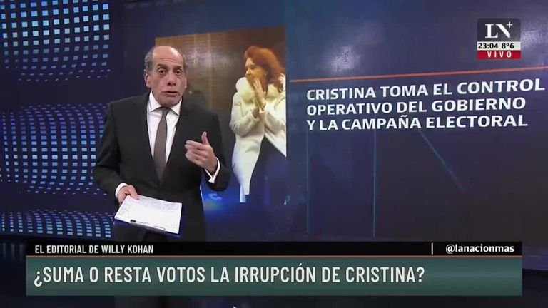 ¿Suma o resta votos la irrupción de Cristina Kirchner?