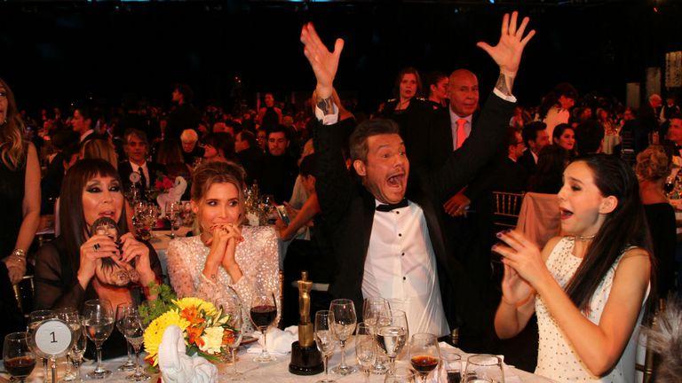 Marcelo Tinell festeja el triunfo de ShowMatch