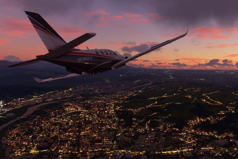 Una vista del Flight Simulator disponible desde el 18 de agosto de 2020 para Windows 10 y Xbox One