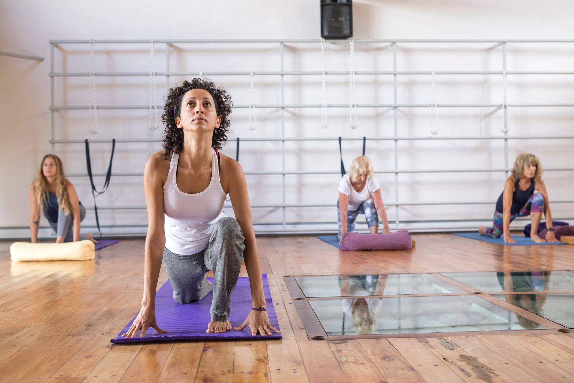 Clases de yoga, uno de los highlights de la propuesta.