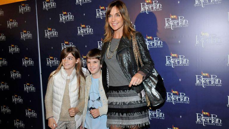 Paula Trapani, en familia