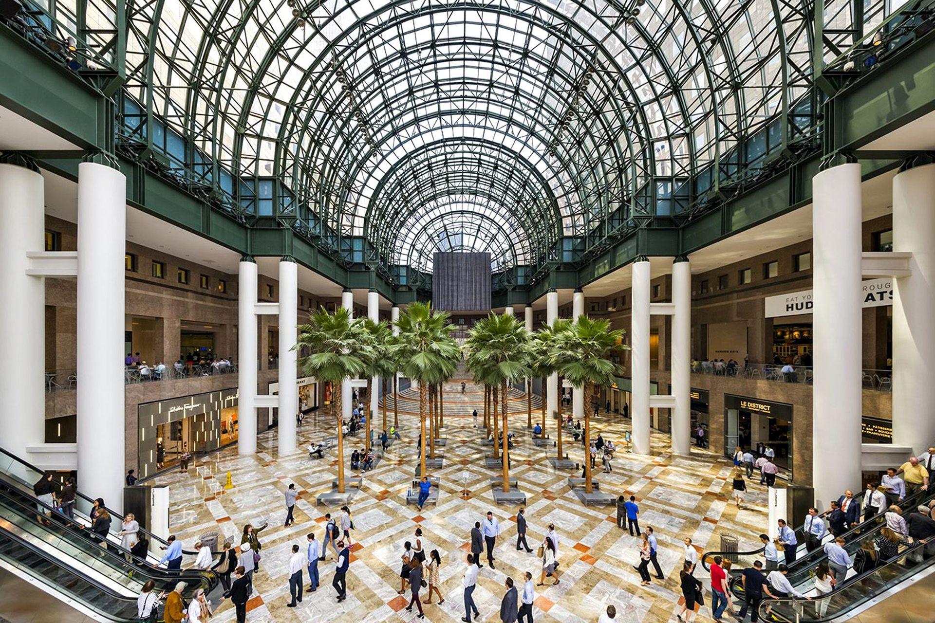 Vista del interior del conjunto, en el World Financial Center