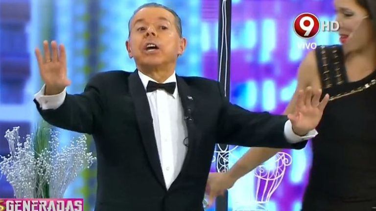 Oyarbide en televisión (foto de archivo)