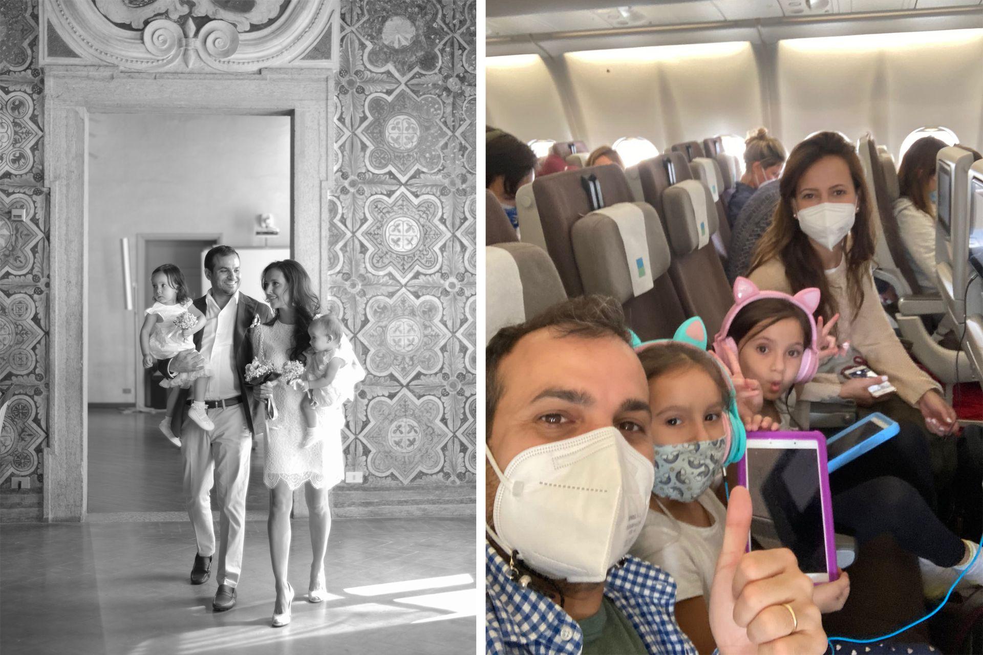 Sin mirar atrás. La familia dejó Venezuela para hacer la experiencia en Europa.