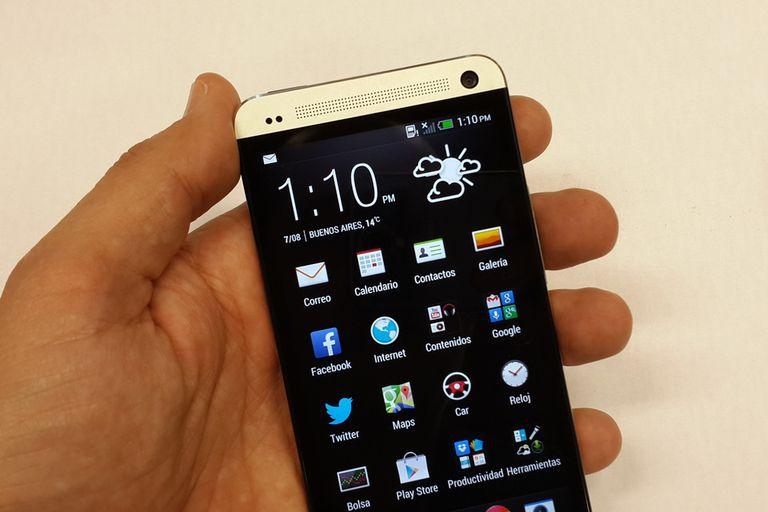 La vista de aplicaciones del HTC One, más minimalista que sus antecesores