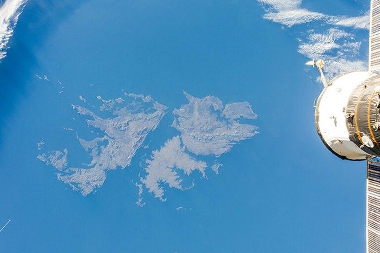 Las Islas Malvinas, fotografiadas a 400 kilómetros de altura