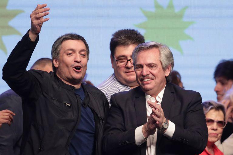 El líder de la Cámpora, Máximo Kirchner, y Alberto Fernández, centraron sus dardos sobre Macri