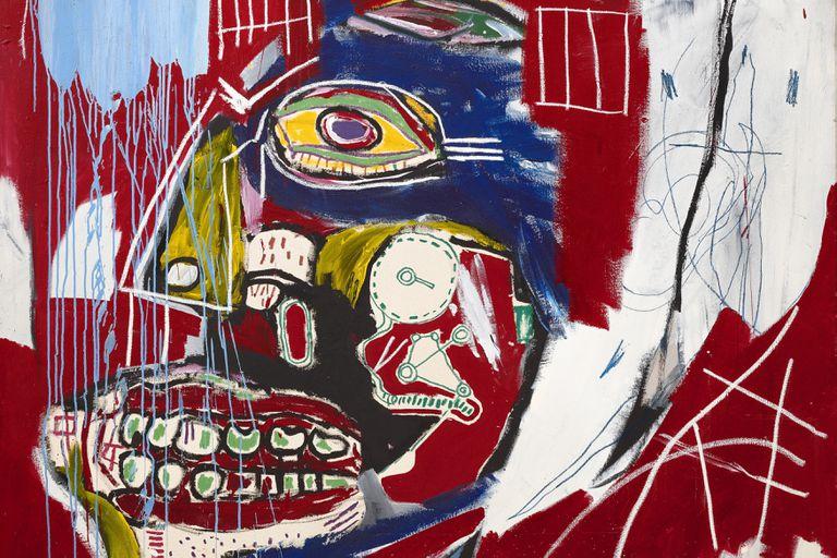 """""""In This Case"""", detalle de una de las calaveras de Basquiat que vendió ayer Christie's por 93 millones de dólares"""