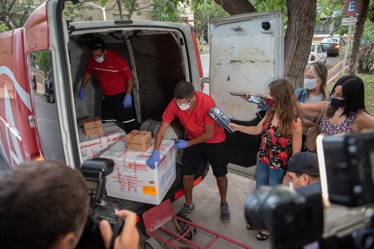 La llegada de las primeras vacunas a Mendoza