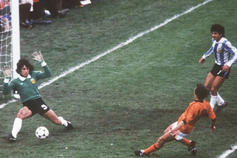 En la final del 78, decisivo para llevar el partido contra Holanda al tiempo suplementario