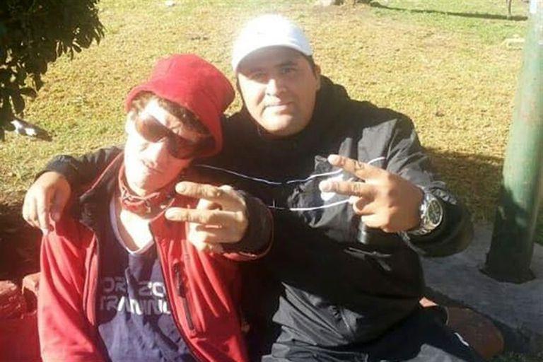 El músico y Cristian Diaz, en otros tiempos