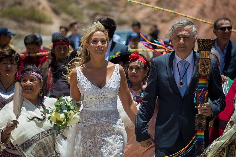 Las postales del casamiento indígena de Gerardo Morales y Tulia Snopek
