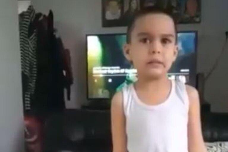 El video que es furor en Twitter por el descargo de un niño de seis años cansado de hacer tareas durante la pandemia