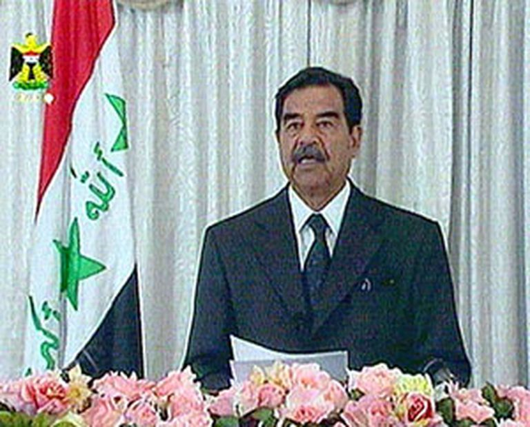 Saddam Hussein era el líder de Irak