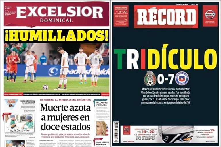 Los medios mexicanos sobre la derrota