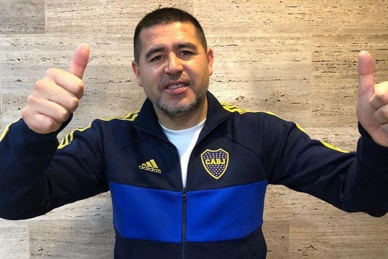 Juan Román Riquelme, con un gesto simpático: despejó rumores, criticó a Angelici y defendió su gestión
