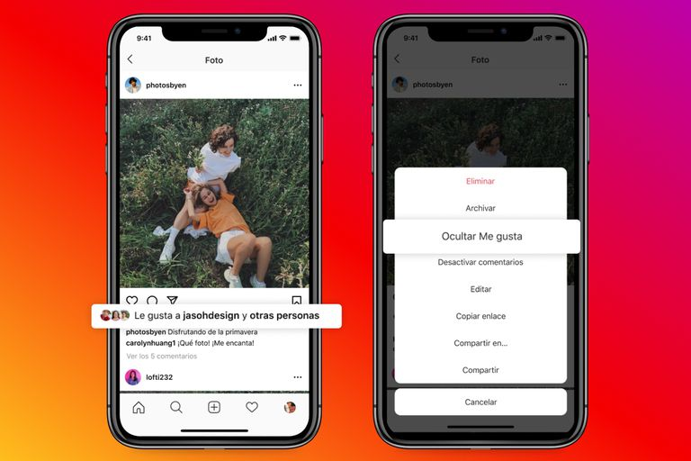 Instagram permite ocultar a los demás usuarios los Me gusta que recibe una publicación específica propia