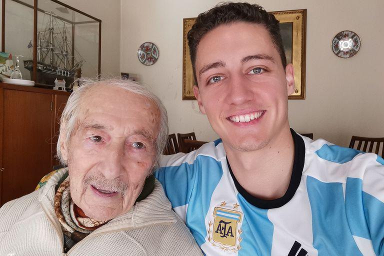 El abuelo de 100 años sorprendido por Messi: su amor por La Pulga y el orgullo interminable
