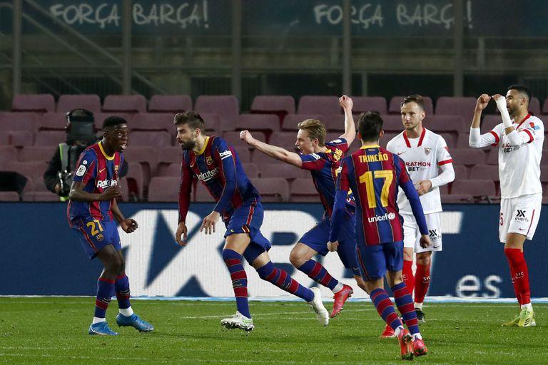 Barcelona. Con Messi, remontó ante Sevilla y es finalista de la Copa del Rey
