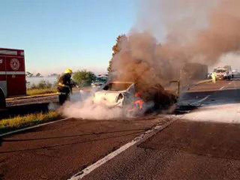 El tránsito fue interrumpido por accidente múltiple en Zárate Brazo Largo
