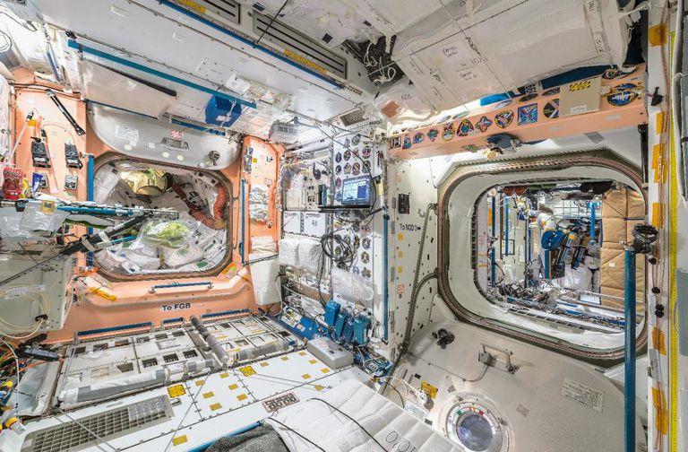 """Una de las áreas de la ISS donde los astronautas realizan sus pruebas de """"gravedad cero"""""""