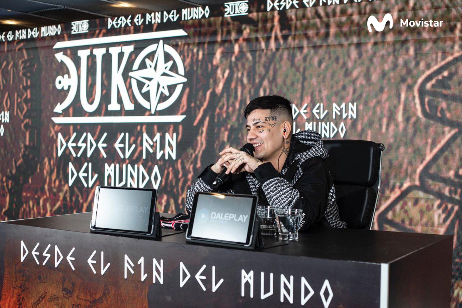 Duki durante la presentación de su último disco, Desde el fin del mundo