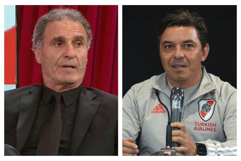 Oscar Ruggeri y Marcelo Gallardo