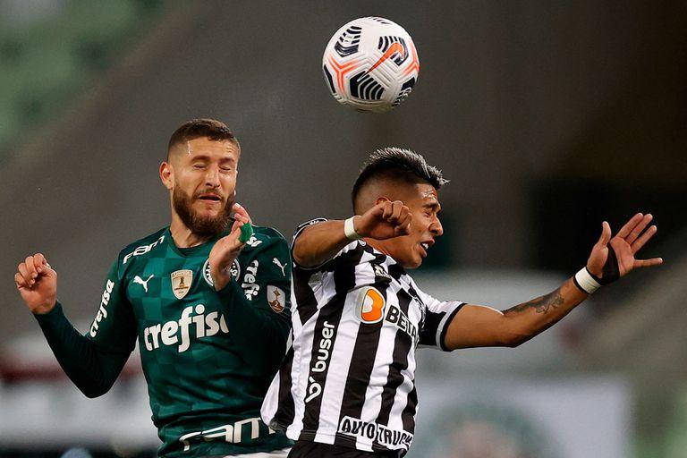 Palmeiras y Atlético Mineiro, iguales en la primera semifinal de la Copa Libertadores
