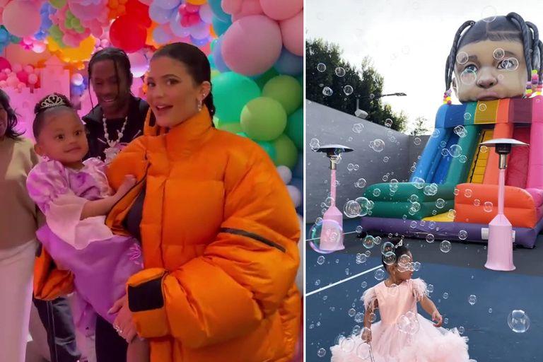 Inflable personalizado: el extravagante cumpleaños de Stormi, la hija de Kylie Jenner