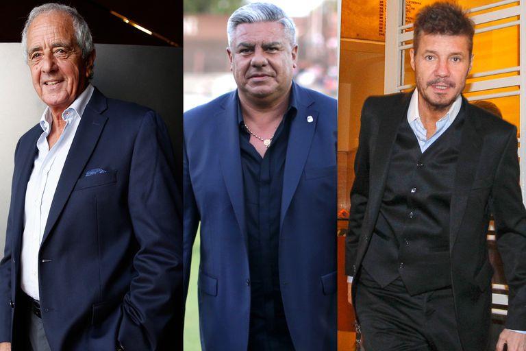 Rodolfo D´Onofrio, Claudio Tapia, Marcelo Tinelli: un triángulo en el que asoman tensiones y cuyo futuro no se vislumbra claro.