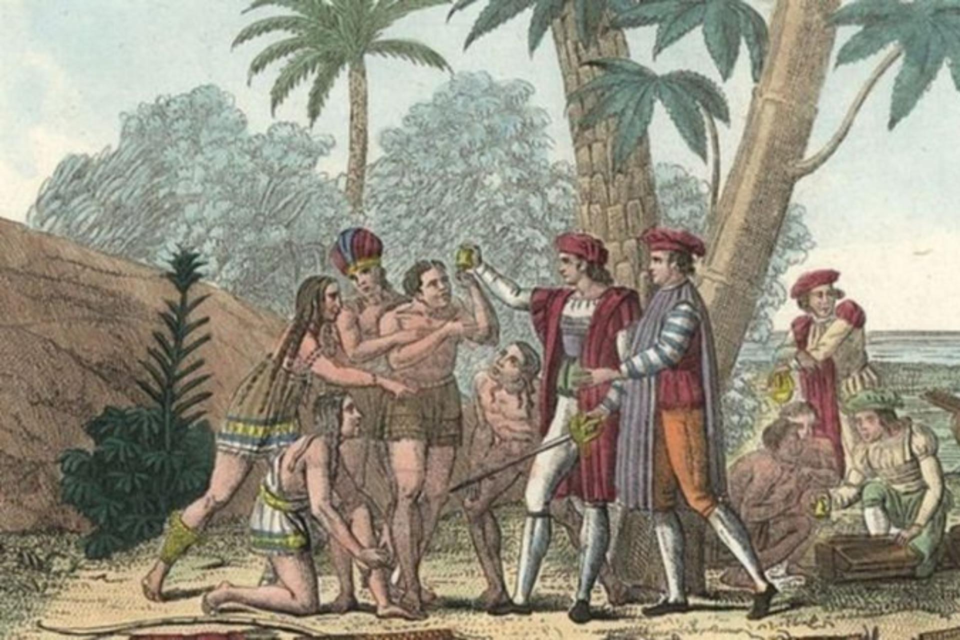 Cuando Cristóbal Colón pisó las Bahamas, las islas ya habrían estado habitada hacía más de 200 años. Archivo La Nación.