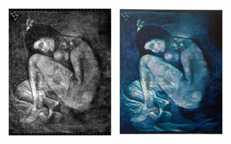 Revelan una pintura que Pablo Picasso ocultó debajo de otra