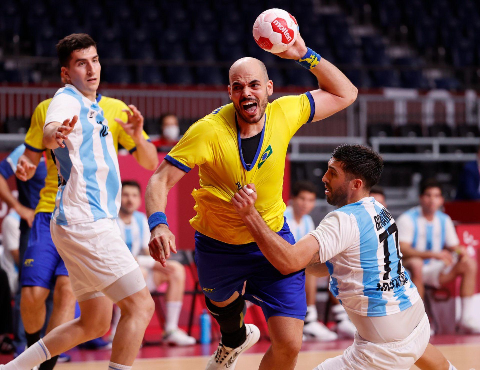 Los Gladiadores y un complicado encuentro ante el Clásico Brasil, fue derrota en Tokio 2020.