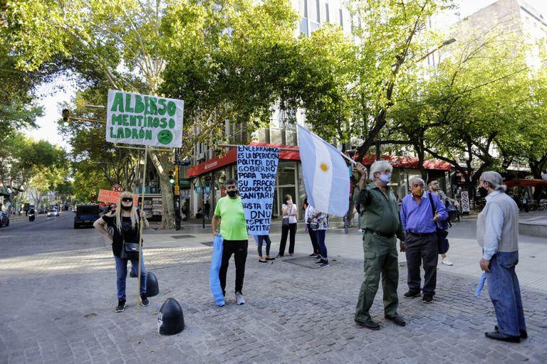 Protesta #17A en Mendoza