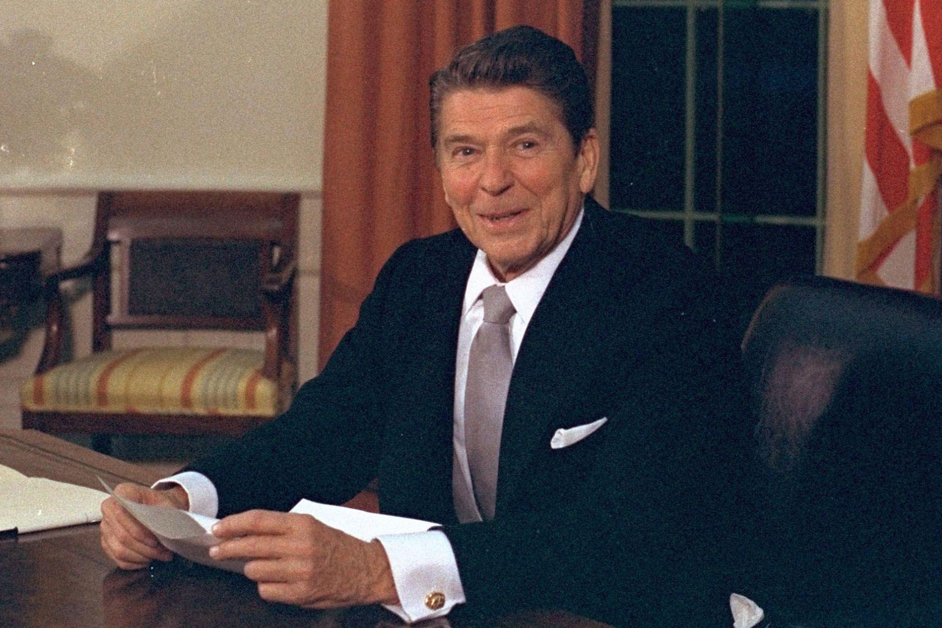 Ronald Reagan, en la Casa Blanca