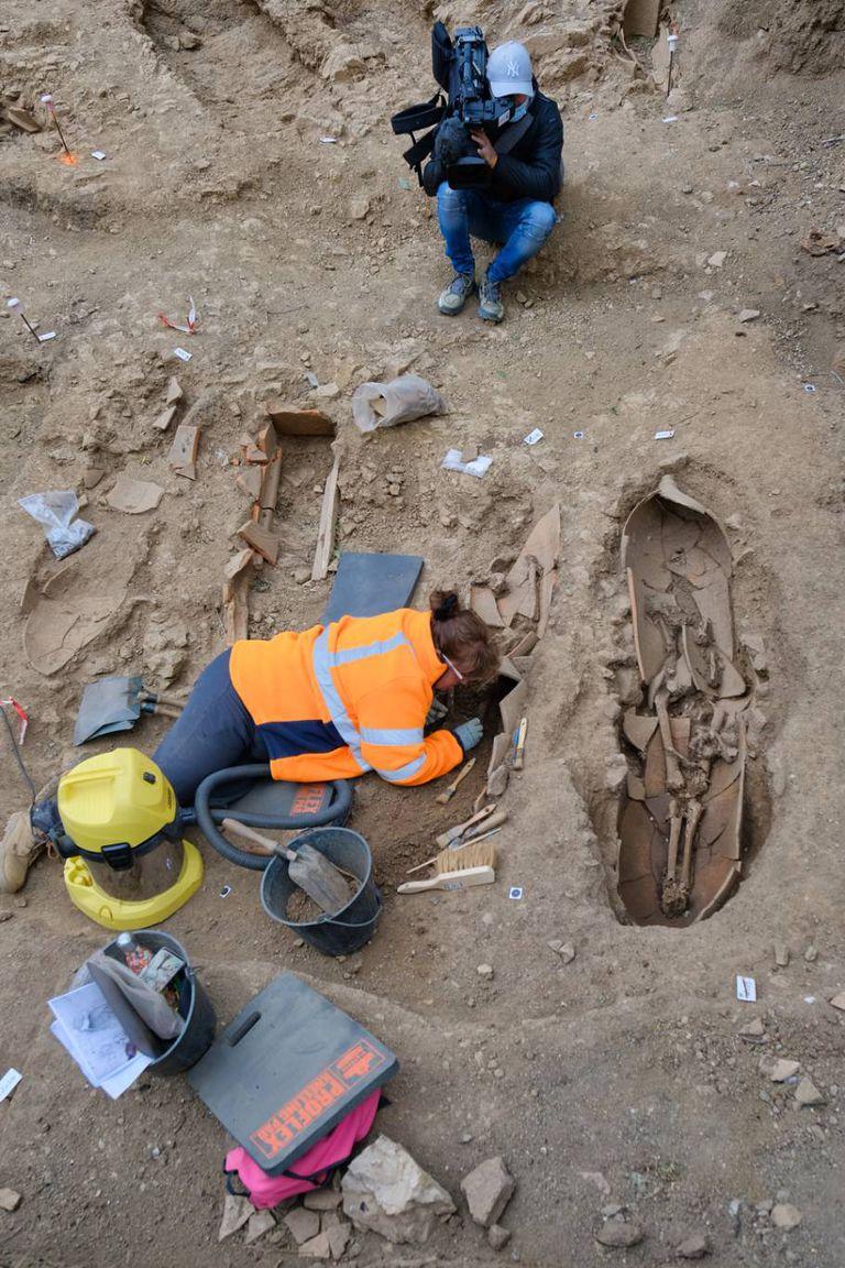 El hallazgo fue realizado por el Instituto Nacional de Investigaciones Arqueológicas preventivas de Francia (Inrap)