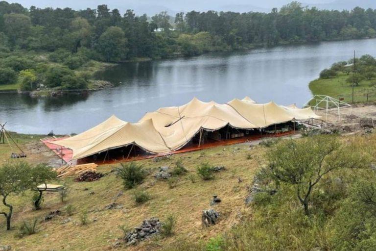 El lugar donde se desarrolló la fiesta, en un campo perteneciente a Leandro Penna, según lo que denunció el intendente de Potrero de Garay