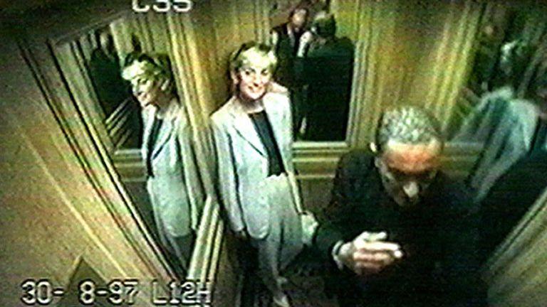 Las cámaras de seguridad del Ritz registraron las horas previas a la muerte de la princesa y Dodi Al Fayed