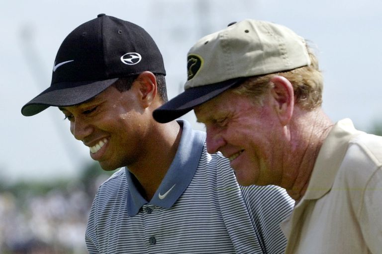 Nicklaus y Tiger Woods, los dos máximos exponentes del golf