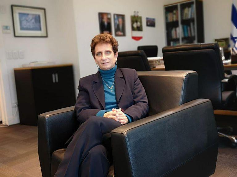 Galit Ronen, embajadora de Israel en Argentina, durante su entrevista con LA NACION. Gentileza Embajada de Israel