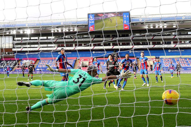 Sadio Mané fue el autor del segundo gol de Liverpool ante Crystal Palace