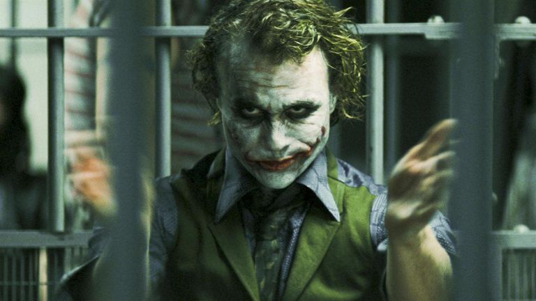 Heath Ledger como el Guasón de Christopher Nolan